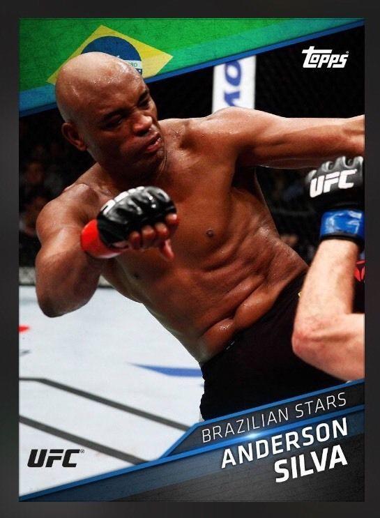 Topps UFC Knockout Blue Anderson Silva Brazilian Stars Card Trader Digital Insrt | eBay
