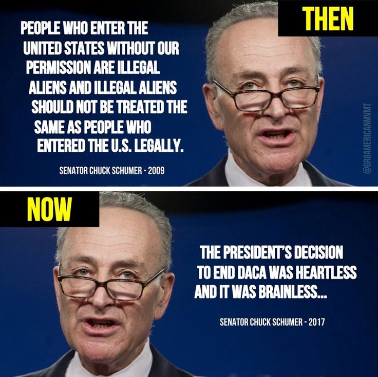Corrupt Democrat Chuck Schumer, changed his mind thinking he is getting Illegal free votes