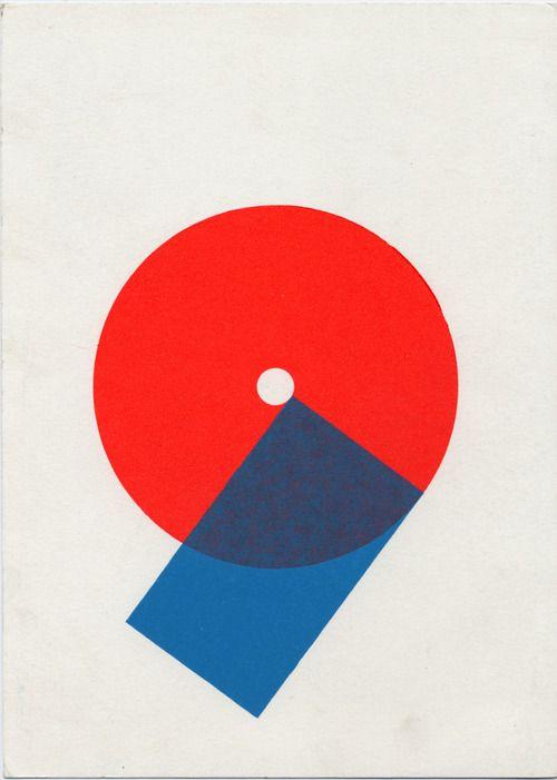 Karel Martens  Untitled, circa 2010  letterpress monoprint on catalogue card from the Stedelijk Museum Amsterdam