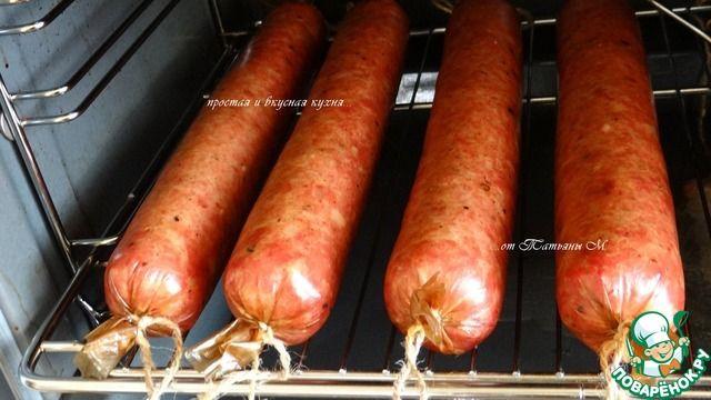 Колбаска домашняя полусухая в духовке ингредиенты