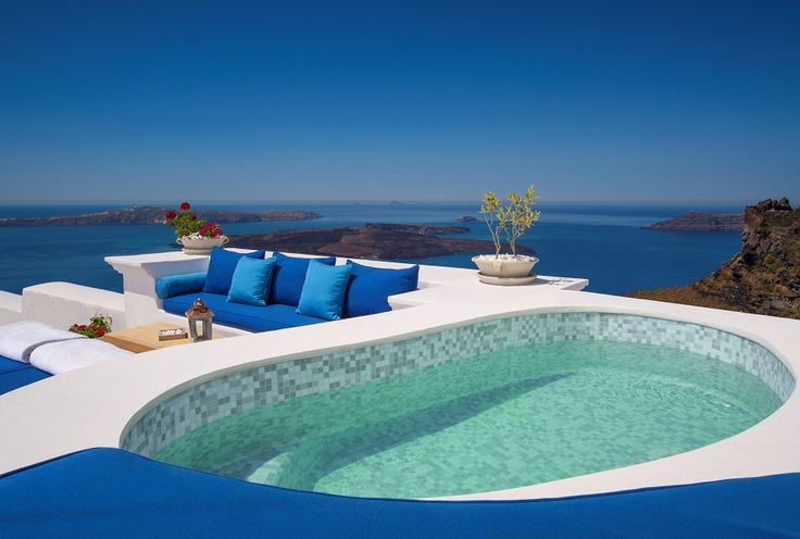 One of two stunning jetted pools to enjoy when staying in The Iconic Suite...
