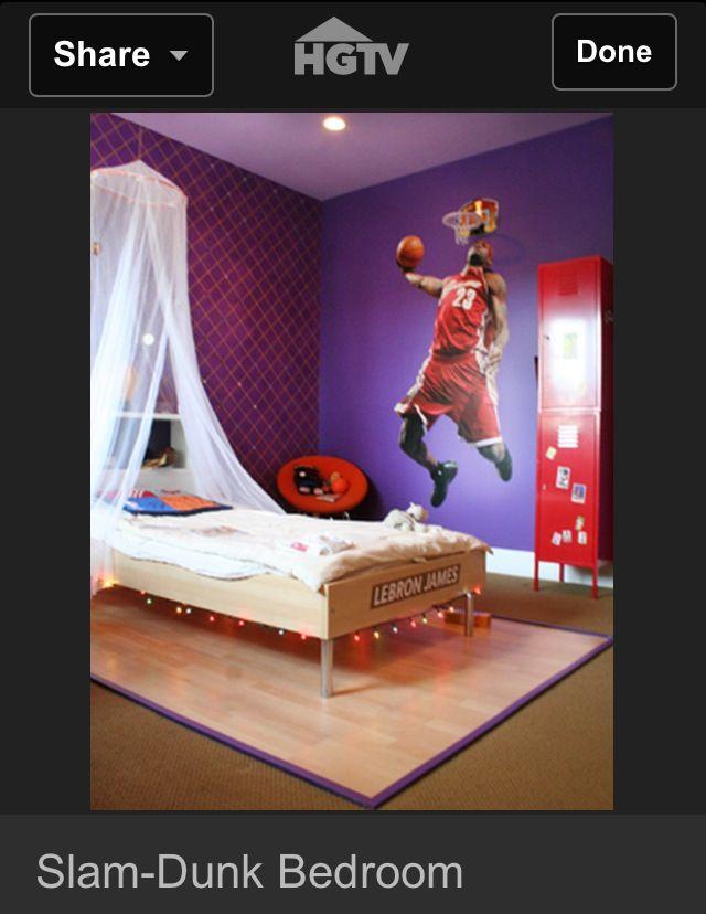 Boys basketball room design boy 39 s room pinterest for Boys basketball bedroom ideas