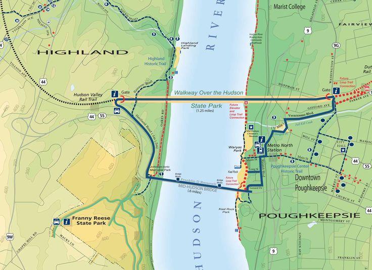 Walkway Over the Hudson Loop Trail Map