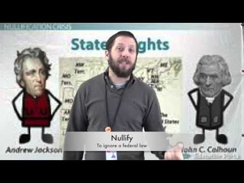 Andrew Jackson and the Nullification Crisis - YouTube