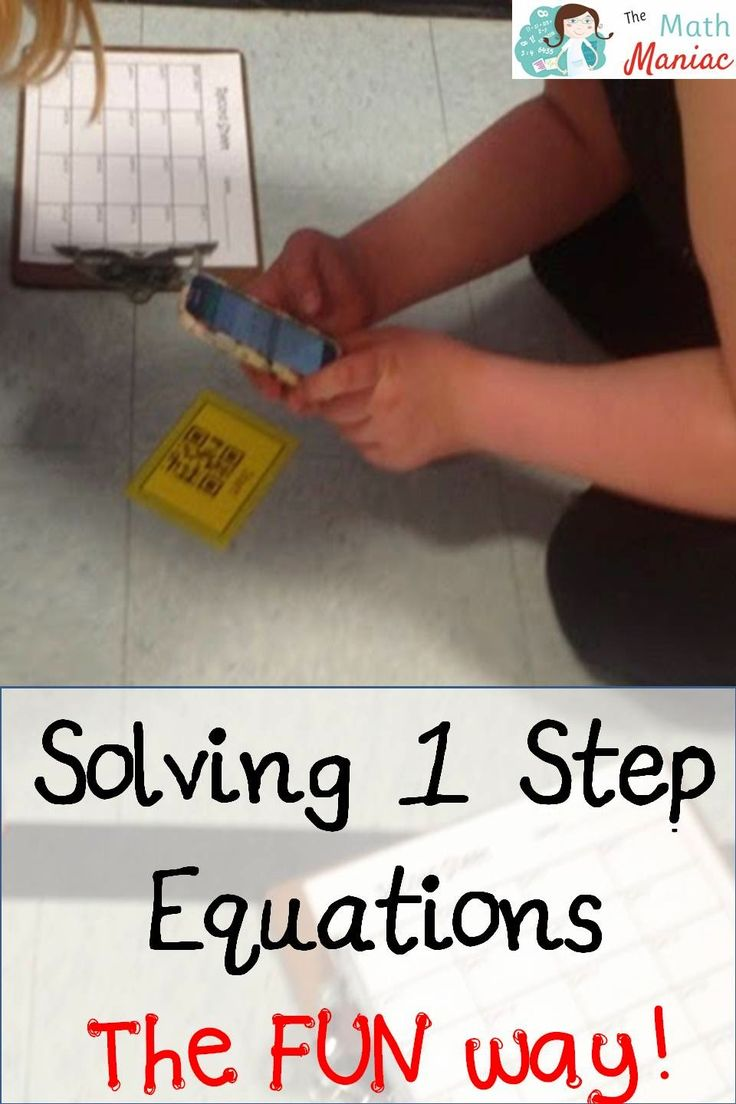 The Elementary Math Maniac: Solving One Step Equations