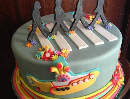 A birthday cake for a Beatles fan!
