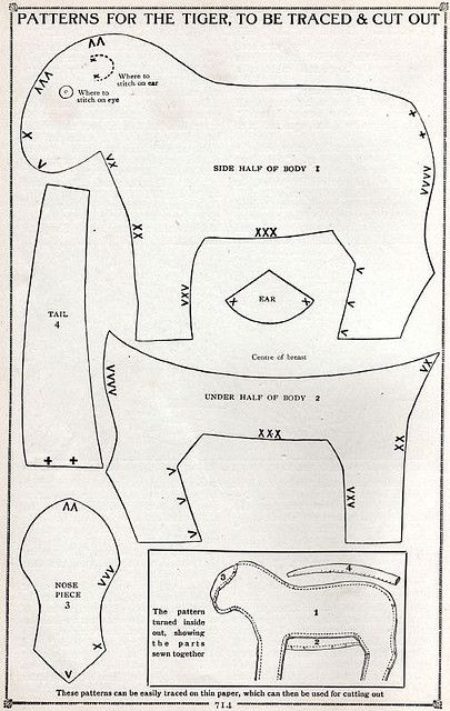 Patterns for the Tiger, To Be Traced & Cut Out | Flickr - Photo Sharing!
