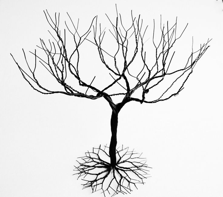 Black large Jewelry Tree Stand,  wire tree sculpture.  perfect for necklaces , earrings ,  rings , etc.  display holder tree , organizer. by KunsWerk on Etsy https://www.etsy.com/listing/182705498/black-large-jewelry-tree-stand-wire-tree