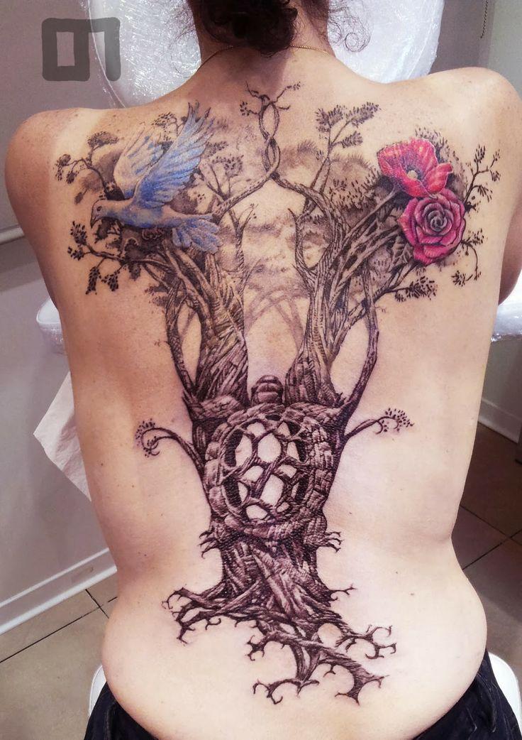 tatouage arbre tattoos pinterest. Black Bedroom Furniture Sets. Home Design Ideas