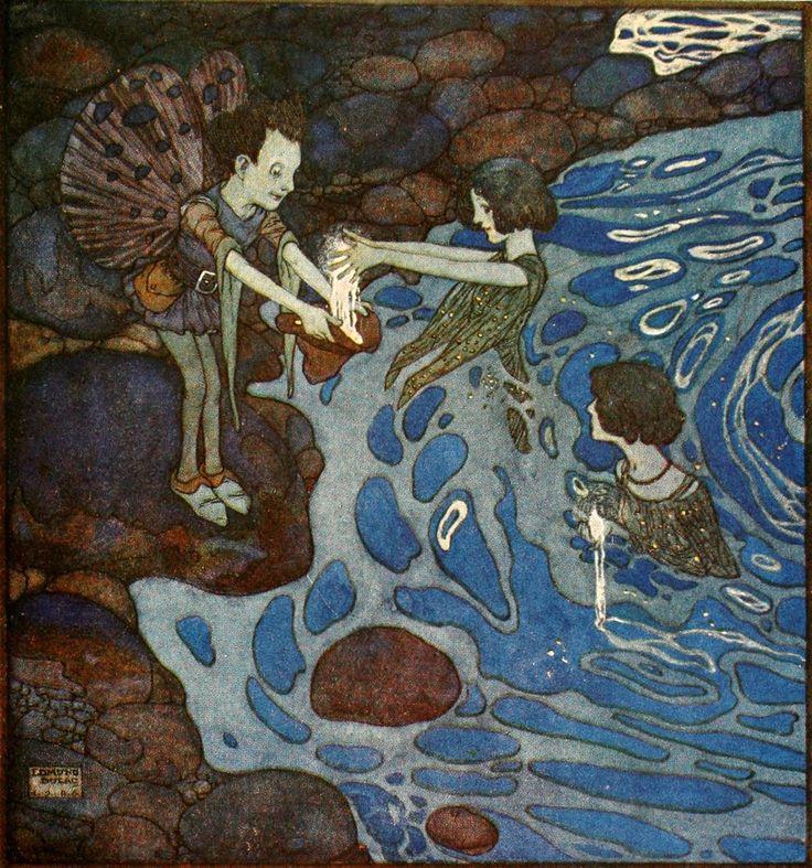 """Edmund Dulac: Cloud That Had No Lining @ <a href=""""http://artofnarrative.blogspot.com/2012/01/edmund-dulac-fairies-i-have-met-1910.html"""">Art of Narrative</a>"""