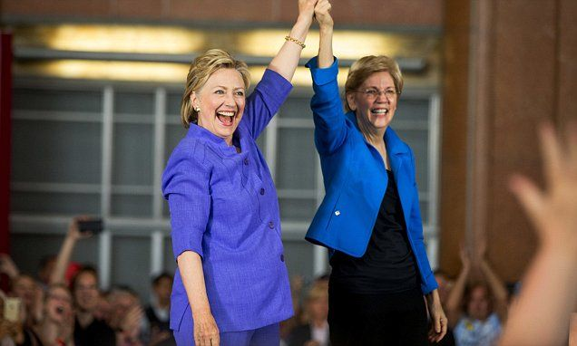 Hillary Clinton takes Elizabeth Warren for 'try-out' as a running mate in Cincinnati | Daily Mail Online