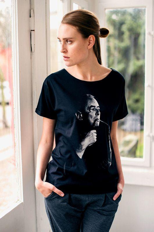 bluzki - t-shirty - damskie-GOMBROWICZ PORTRAIT Oversize t-shirt