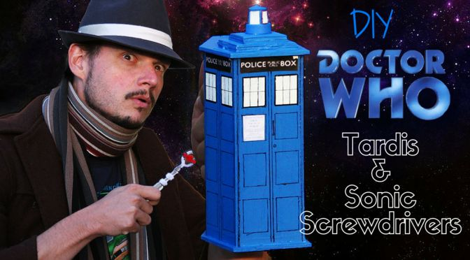 Make your own Dr Who Tardis & Sonic Screwdrivers toys! My son loves this variation on a toy tool kit, using CleverPatch's wooden tool box and tool shapes