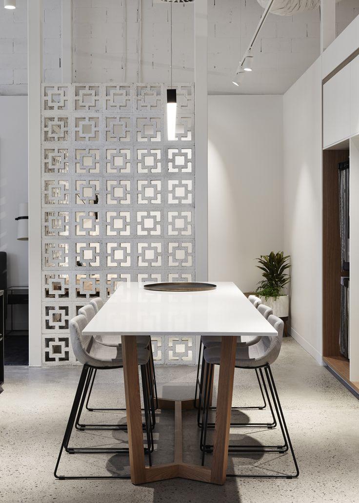 Most Wanted Design Studio. Globe West Designer Stools, Customised Table Base with Quantum Quartz Stone Bench-top.