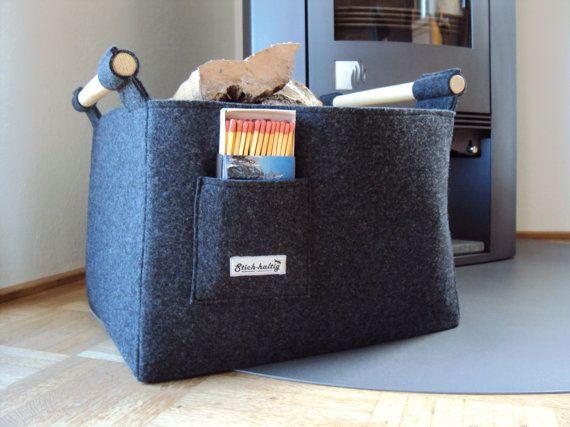 Wunderschöner Feuerholzkorb aus Filz mit von technikdesigncm, €70.00