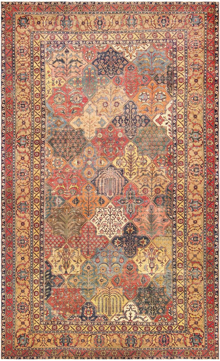 17th Century Persian Khorassan Carpet 47074 Main Image