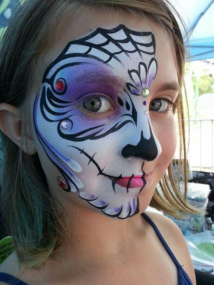 Mai Bohl Sugar Skull Face Painting Design