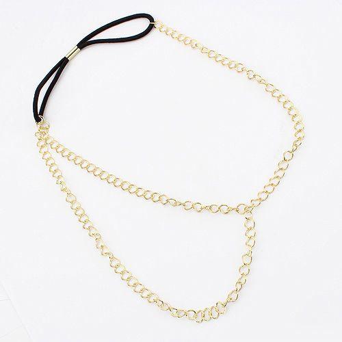 Chain Headband, Zinc Alloy