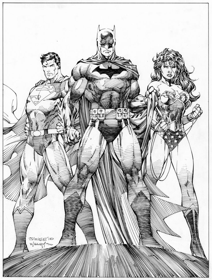 TRINITY illustrated by Jim Lee & Scott Williams (inks)