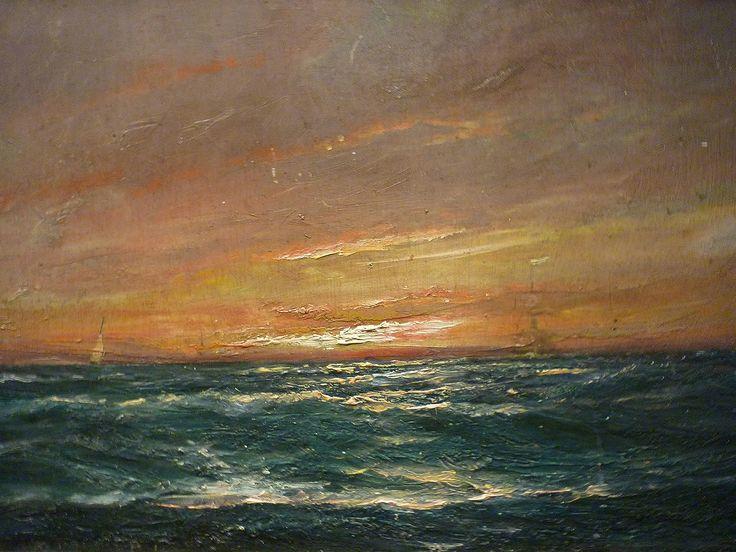 Peder Balke, Atardecer, Marina (Sunset at sea, n.d.)
