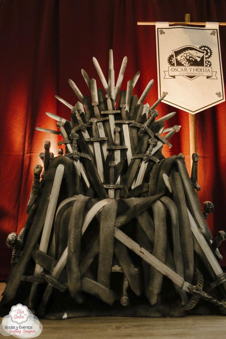 Noelia y Oscar, una boda en Invernalia Photocall Trono de Hierro, Juego de tronos - El Día más Dulce