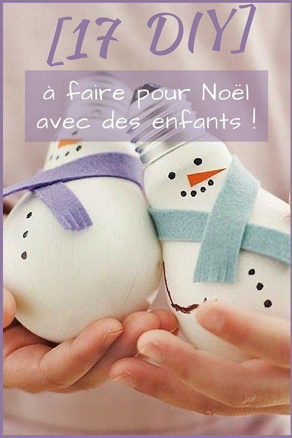 17 DIY de Noël à Faire Avec des Enfants !  http://www.homelisty.com/17-idees-deco-simples-et-fun-a-faire-avec-vos-enfants-pour-noel/