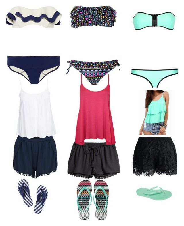 """""""Swimming clothes for hotel stay"""" by maryam-abushabab ❤ liked on Polyvore"""