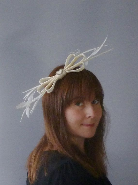 Ivory Fascinator Cocktail Hat. Sinamay and by SophieShields, £25.00