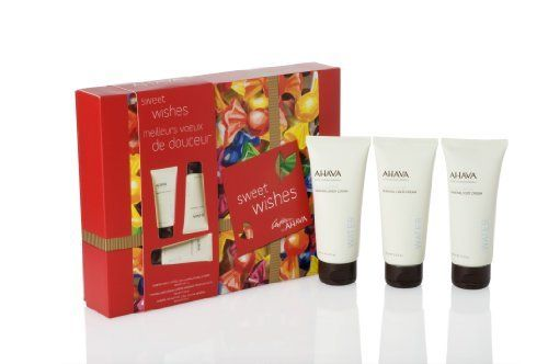 Ahava Sweet Wishes Cream Gift Set by AHAVA. $27.00. The finest body care products. Keep your skin healthy, fresh and hydrated. Gift set. Ahava's signature hand, foot and body cream. The finest body care products as a gift to your skin this holiday season.