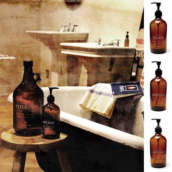 Refill bottle shampoo bottle dispenser label antique glass bottle glass pump…
