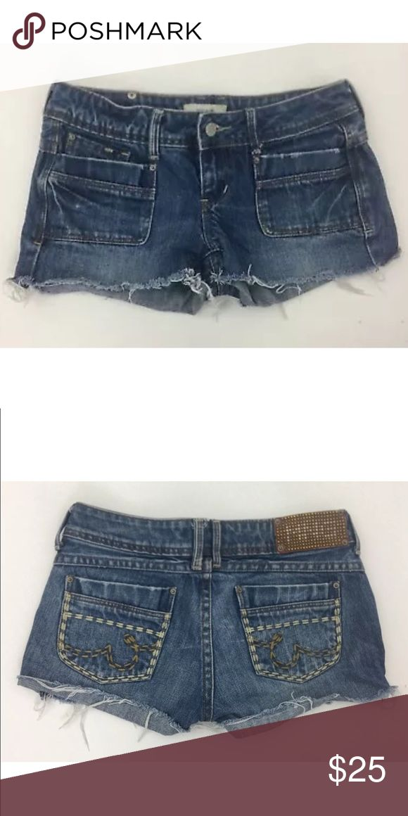 Mango cutoff jean shorts Waist: 28.5 Rise: 6.6 Inseam: 2.5 100% cotton    Item 1905 Mango Shorts Jean Shorts