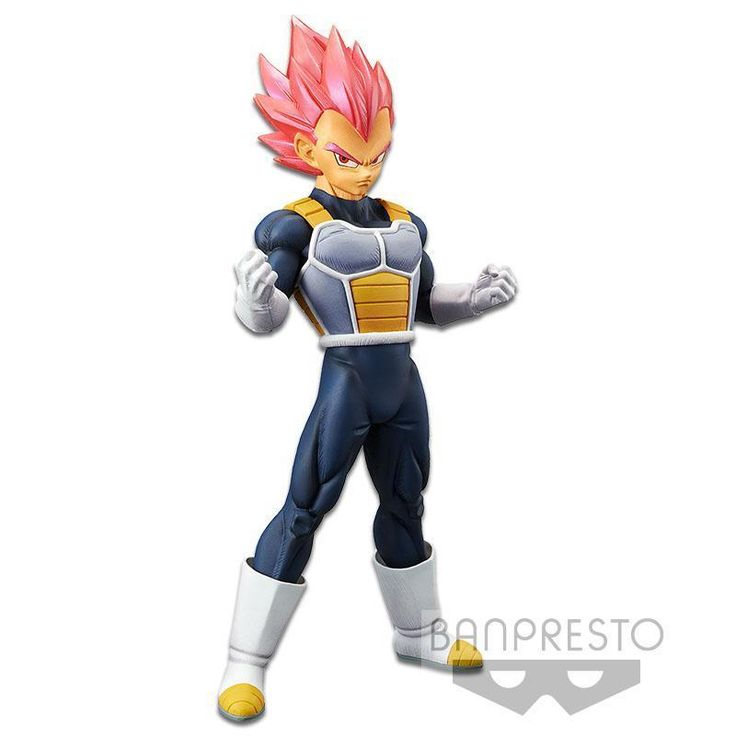 Super Saiyan God Vegeta Chokoku Buyuden PVC Figure *NEW* Dragon Ball