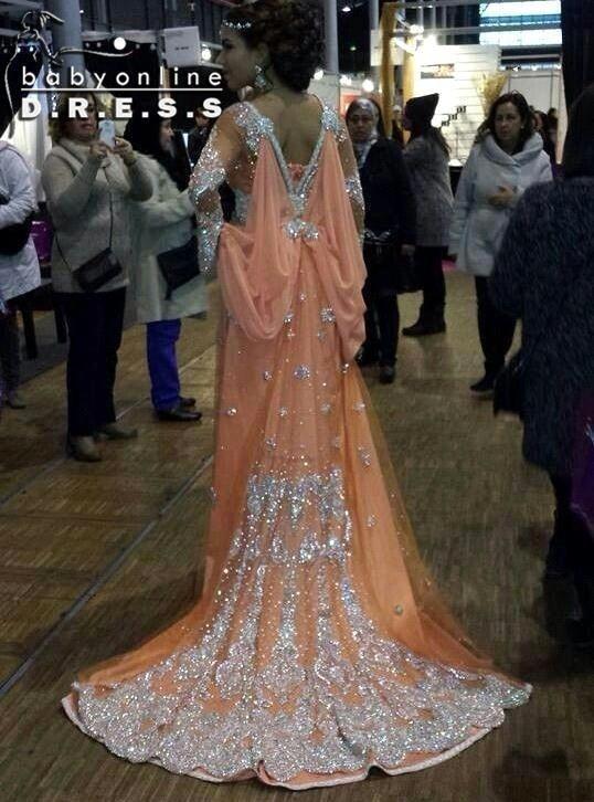 ea43786ff1b Élégante fantaisie Abaya musulmane robe de soirée dubaï marocaine islamique  caftans perles à manches longues arabes ...