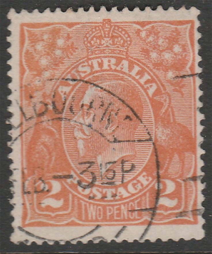 KGV Heads 2d KGV Orange BW95 Single wmk  Shade Unknown. Find more KGV Heads at Stamp Shop