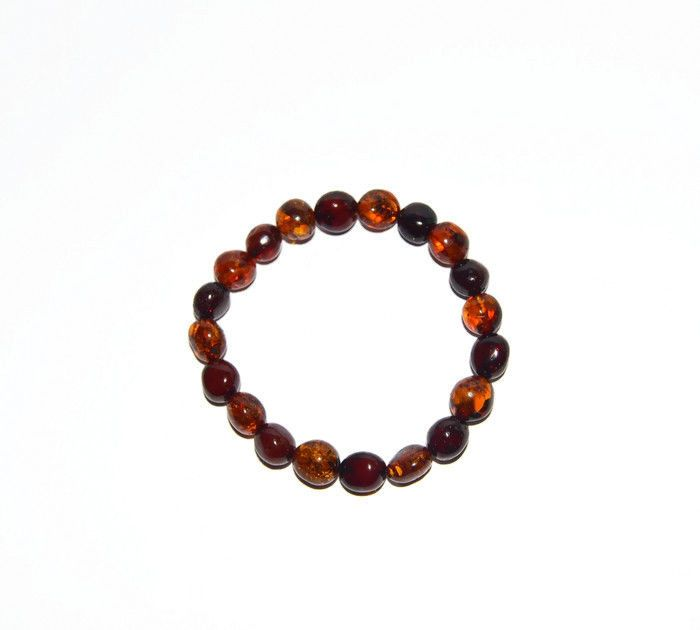 Orange Moon Natural Baltic Amber Bracelet #Beaded