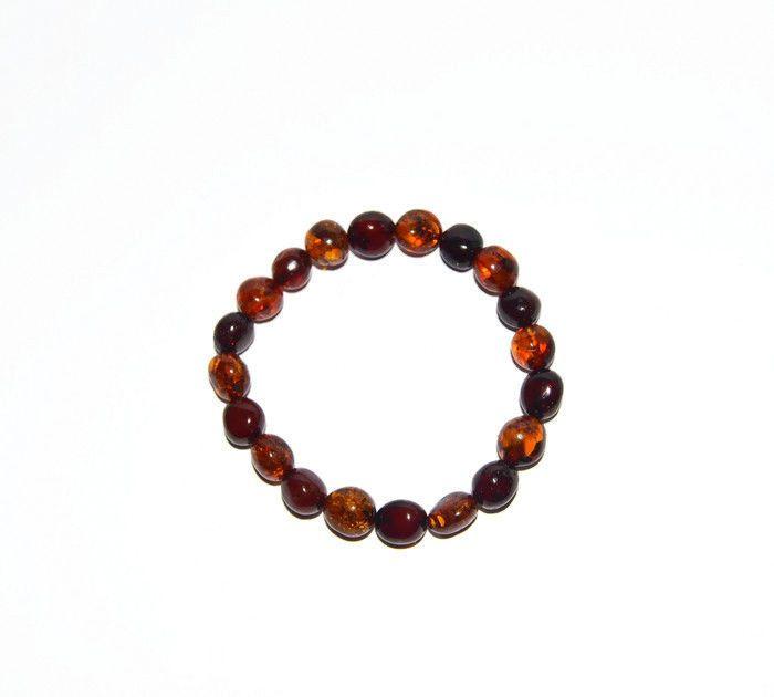Orange Moon Natural Baltic Amber Bracelet #Beaded