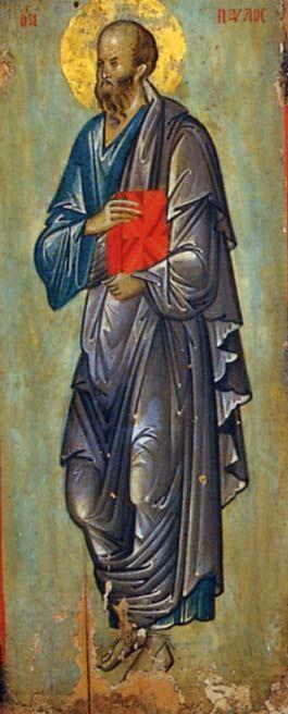 St Paul - Egg Tempera on Wood Panel 14th century Holy Monastery of St. Catherine - Sinai
