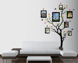 Amazon.com: Large Wall Family Picture Frame Tree with Hearts, Birds and Leaves Nursery 1163 (7 Feet Tall): Furniture & Decor
