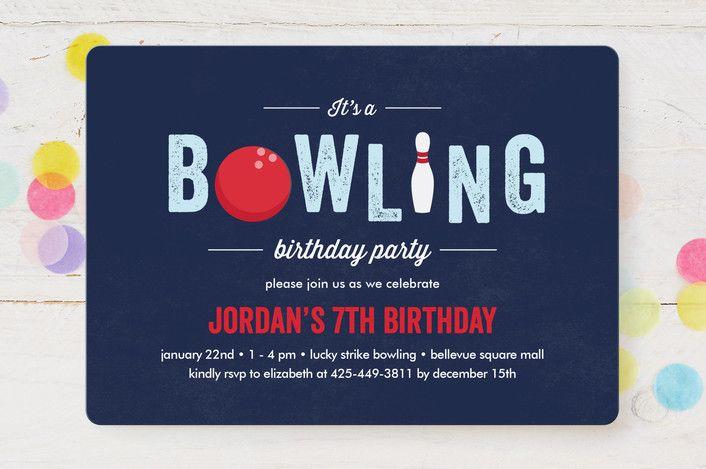 Bowling Birthday Party by Anupama at minted.com