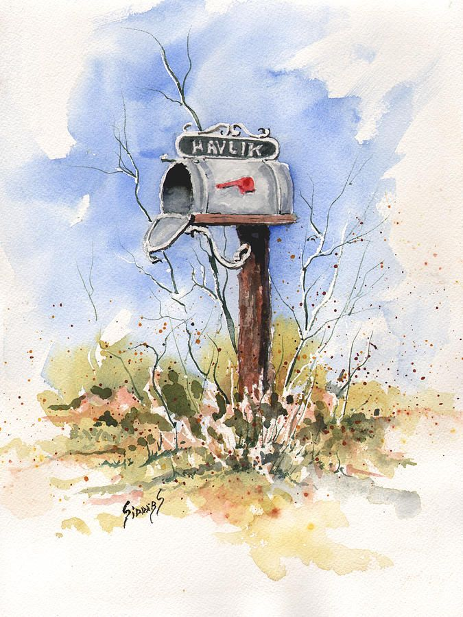 Havlik's Mailbox Painting by Sam Sidders - Havlik's Mailbox Fine Art Prints and Posters for Sale