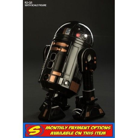 Preorder this Sideshow action figure now at statuesque. flexible payments available. The R2-Q5 ASTROMECH DROID is 17cm tall 1/6 scale with light up dome