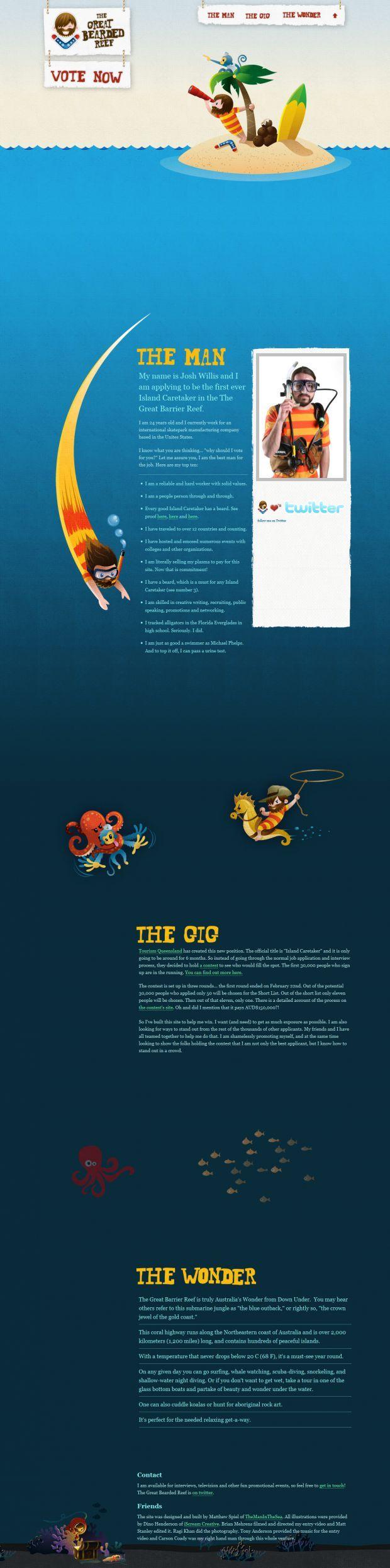 Unique Web Design, The Great Bearded Reef #WebDesign #Design (http://www.pinterest.com/aldenchong/)
