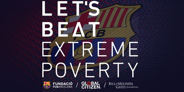 BIG NEWS—We're teaming w/@FCBarcelona to create the most powerful team to beat poverty—Join us http://glblctzn.me/FCBGC