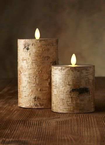 BIRCH BARK PILLAR CANDLE | LUMINARA | Pinterest | Birch ...