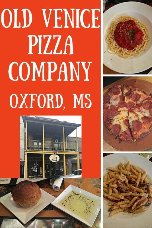 Perfect Pizza and Pasta at Old Venice Pizza Company in Oxford, Mississippi (USA)