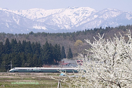 山形・東北新幹線 E3系「つばさ」 山形新幹線 村山~大石田(山形県)