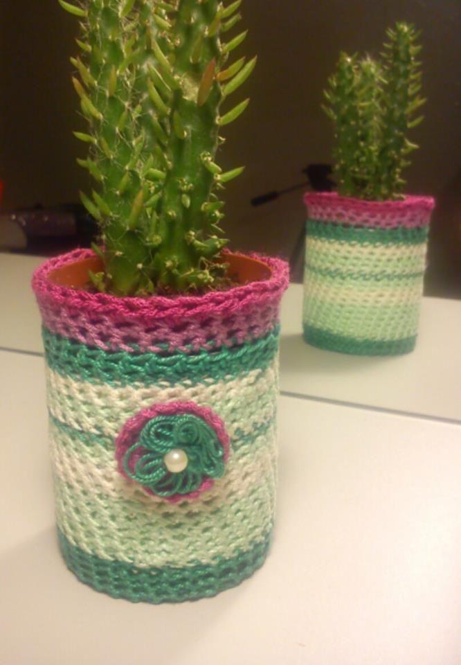 vaso crochet