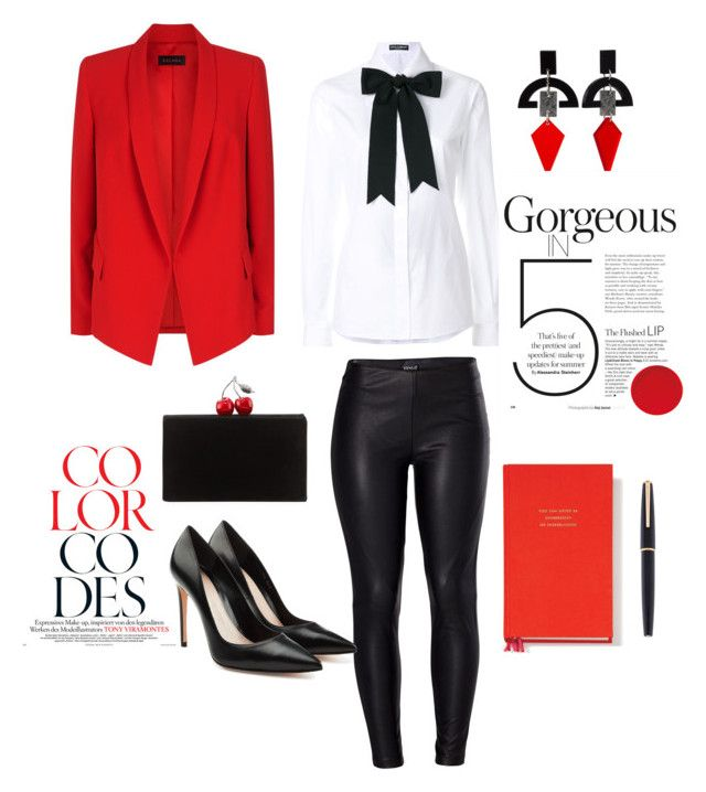 """Black&Red 🍒"" by guruolivella on Polyvore featuring ESCADA, Venus, Dolce&Gabbana, Toolally, Alexander McQueen, Kate Spade, Montblanc y Edie Parker"