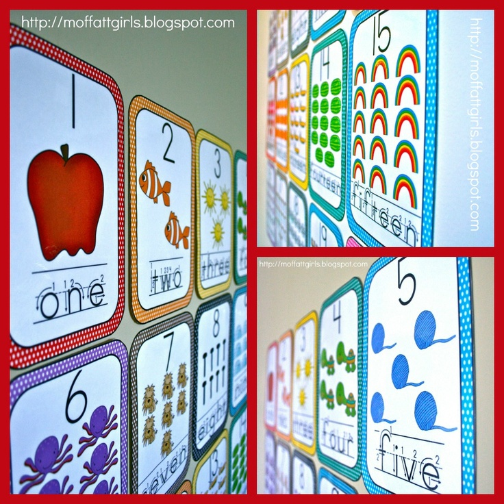 The Moffatt Girls: Word Wall Number Cards 1-20 $