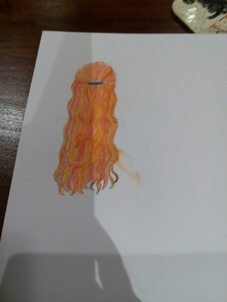 I drew this picture of a ginger with a half-up do. I'm really proud of it.